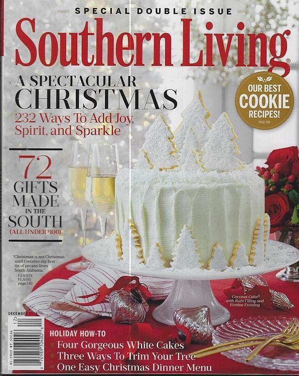 Southern Living Magazine December 2016 Spectacular Christmas/Greenbrier/Recipes