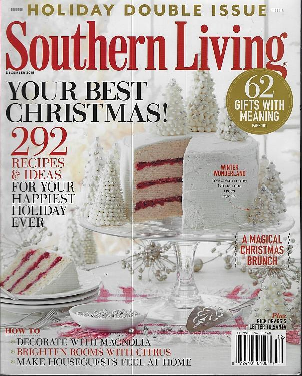 Southern Living Magazine December 2015 Your Best Christmas Ultimate Holiday Cook