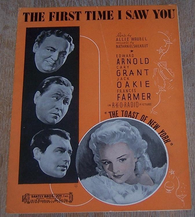 First Time I Saw You From Toast of New York Starring Cary Grant/Francis Farmer