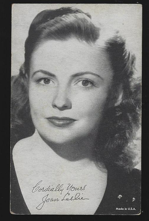 Vintage Arcade Card of Actress Joan Leslie