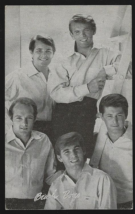 Vintage Arcade Card of The Beach Boys
