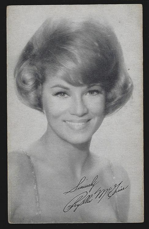 Singer Actress Phyllis Mcguire Vintage Arcade Card and Short Biography
