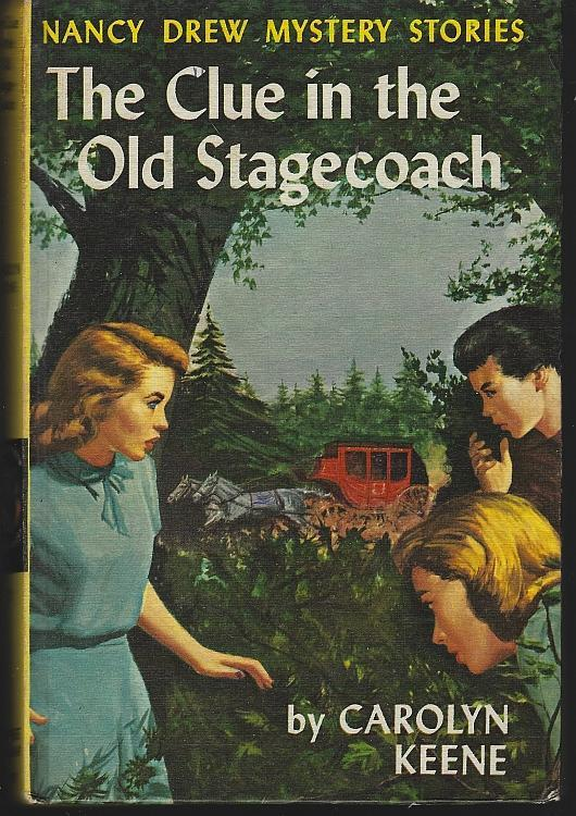 Clue in the Old Stagecoach by Carolyn Keene Nancy Drew #37 Yellow Matte Cover