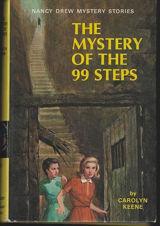 Mystery of the 99 Steps by Carolyn Keene Nancy Drew #43 1966 Yellow Matte