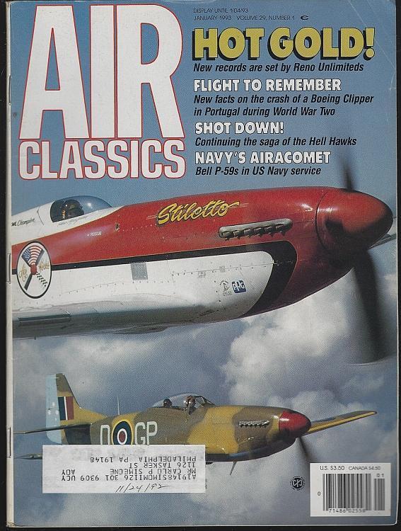 Air Classics Magazine January 1993 Stiletto Test Flight Cover/Reno Air Races
