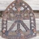 Vintage Cast Iron Sad Iron Rest Trivet Jas Smart MFG Co. Limited Canada