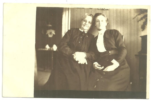 Real Photo Postcard of Two Lovely Ladies in Black