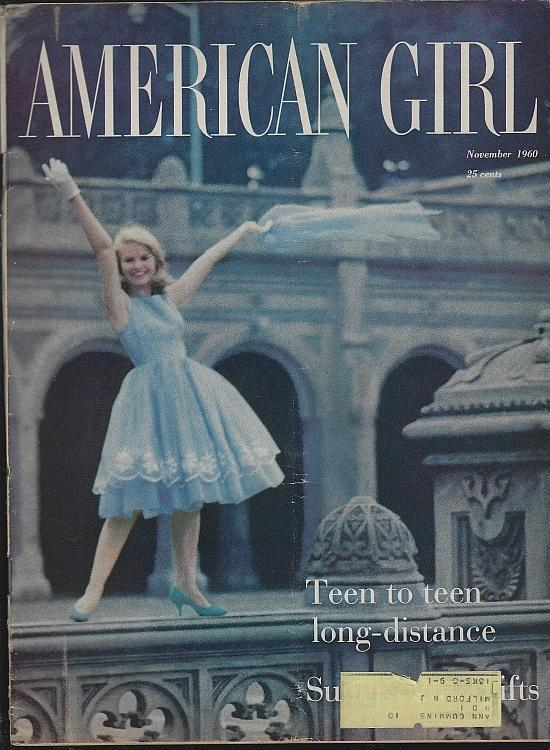 American Girl Magazine November 1960 Clouds/Travel/Turkey/Fashion/Fiction