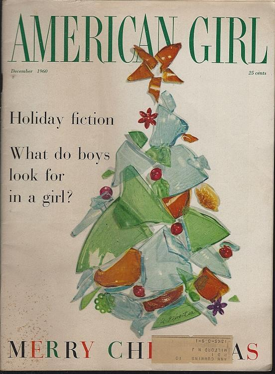 American Girl Magazine December 1960 Christmas/Decorating/Candy/Fashion/Fiction