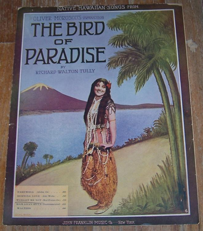 Forget Me Not Mai Poina Oe Native Hawaiian Song From Bird of Paradise 1902 Music