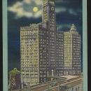 Wrigley Building By Moonlight, Chicago, Illinois 1946 Vintage Postcard