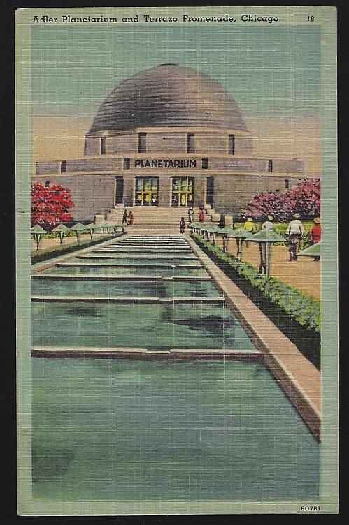 Adler Planetarium and Terrazo Promenade Chicago Illinois Unused Vintage Postcard