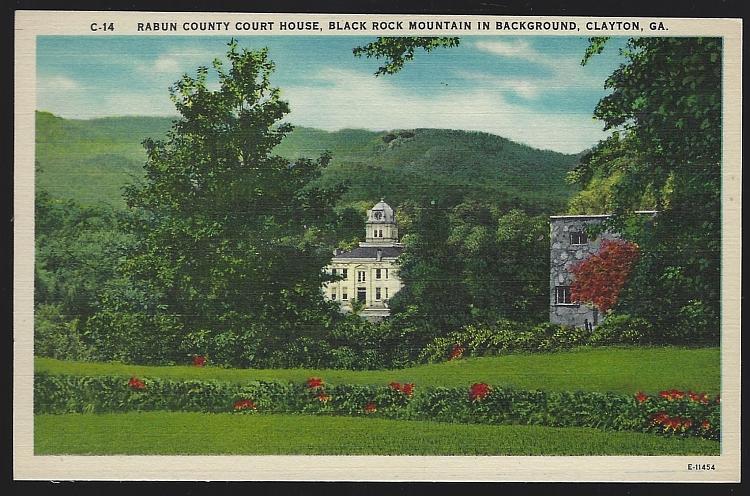 Rabun County Court House, Clayton, Georgia Vintage Unused Postcard