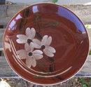 Vintage Blue Ridge Pottery Night Flower Flat Soup Bowl