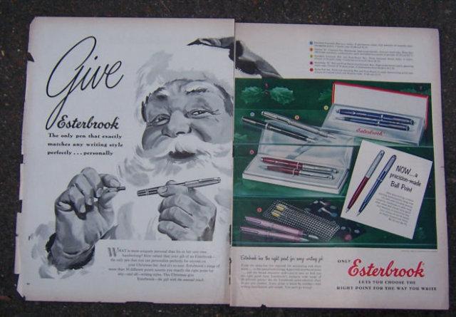 1956 Esterbrook Pen Magazine Christmas Advertisement