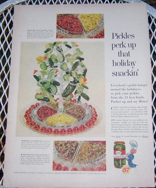 1956 Heinz Pickles Magazine Christmas Advertisement