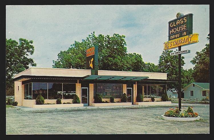 Glass House Restaurants, Atlanta, Georgia Vintage Unused Postcard Travel