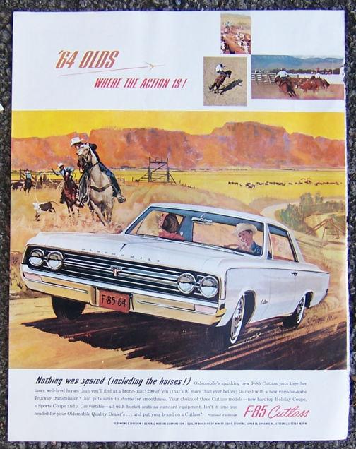 1963 Oldsmobile F-85 Cutlass Magazine Advertisment