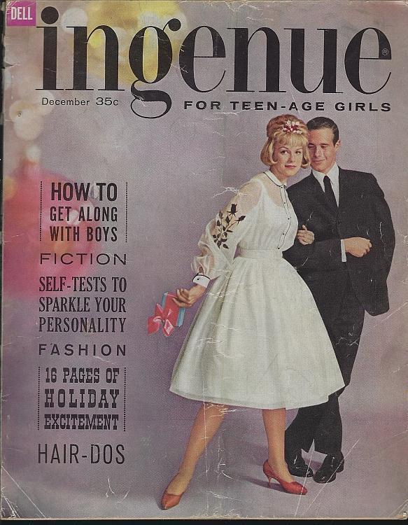 Ingenue Magazine December 1960 Teens Girls/Christmas/Slumber Parties/Fashion