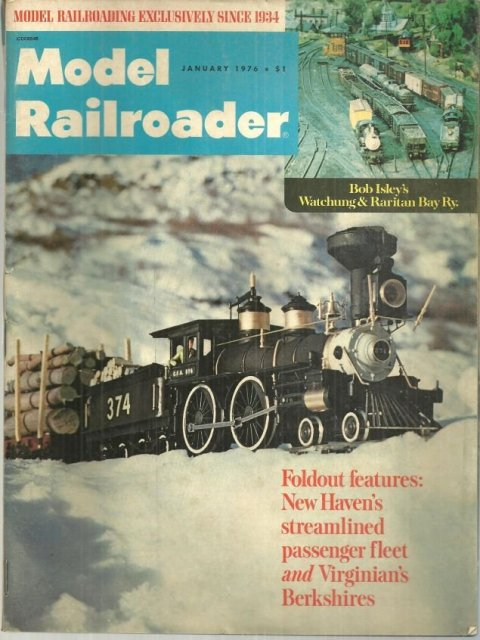 Model Railroader Magazine Janury 1976 Canadian Pacific on Cover