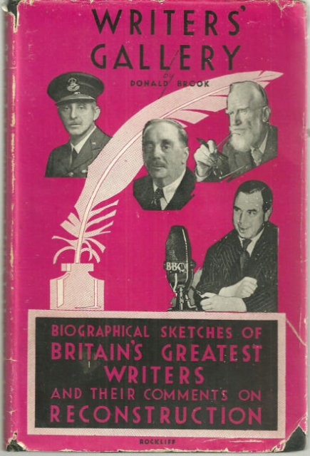 Writers' Gallery Britain's Greatest Writers 1944 1st ed
