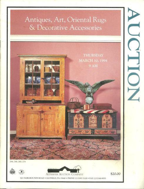 Antiques, Art, Thursday March 10, 1994 Auction Catalog