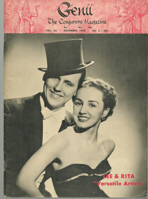 Genii Magazine November 1958 Lee and Rita on Cover