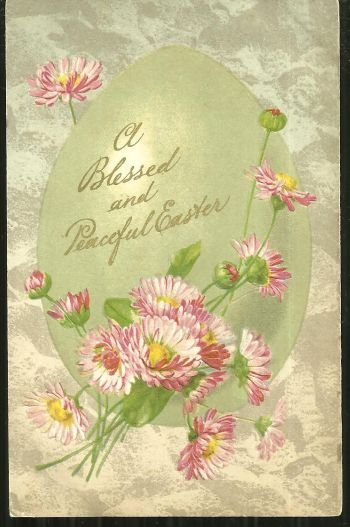 Blessed and Peaceful Easter Greetings 1908 Postcard