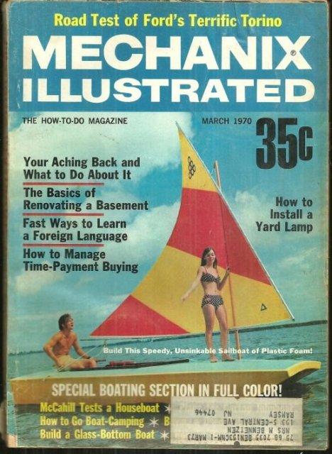 Mechanix Illustrated Magazine March 1970 Boating