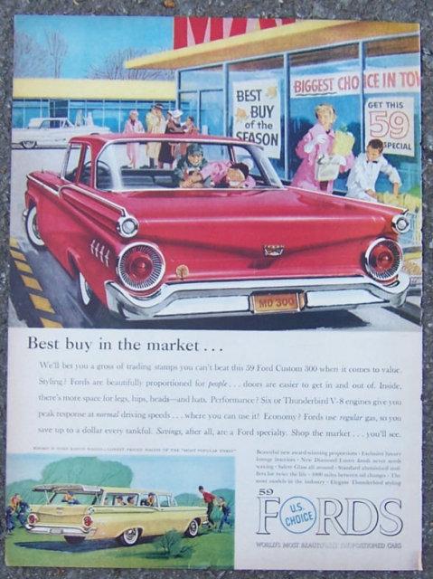 1959 Ford Custom 300 Life Magazine Advertisement