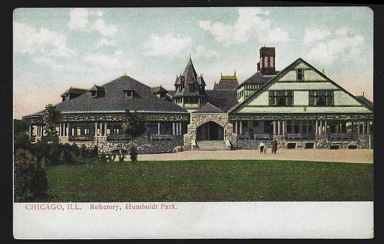 Vintage Postcard of Refectory, Humboldt Park, Chicago, Illinois