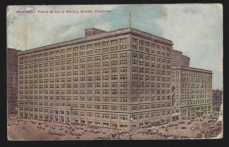 Marshall Field & Co. Retail Store Chicago, Illinois Vintage Postcard