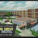 Shore Drive Motel Chicago Illinois 56th and Lake Vintage Unused Travel Postcard