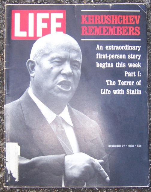 Life Magazine November 27, 1970 Khrushchev on Cover