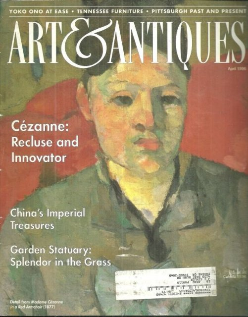 Art and Antiques Magazine April 1986 Cezanne