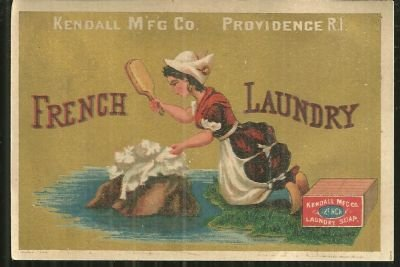 Victorian Trade Card for French Laundry Soap Providence
