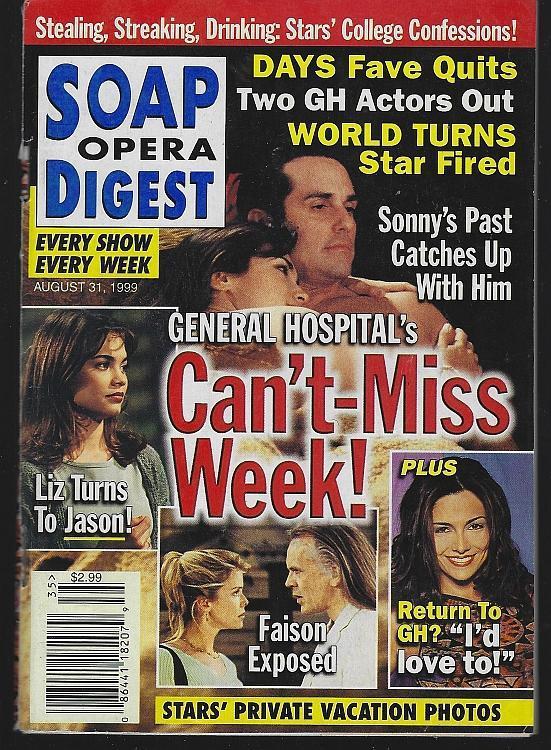 Soap Opera Digest August 31, 1999 General Hospital/Phil Carey/Ashley Jones