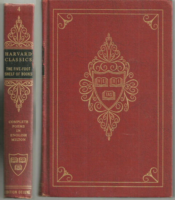 Complete Poems of John Milton Harvard #4 1963 Red