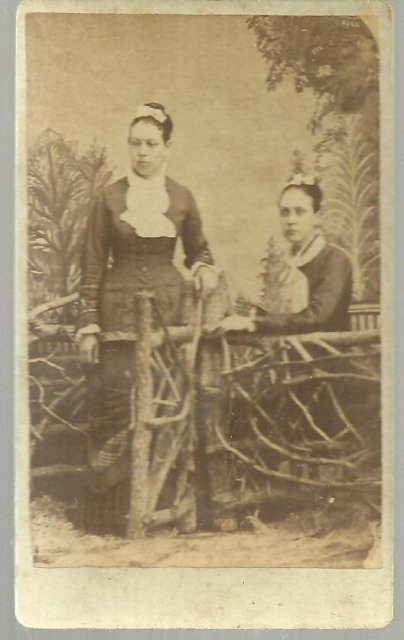 Two Sisters with Wooden Fence Olney, Illinois Photo