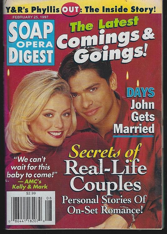 Soap Opera Digest February 25, 1997 Kelly Ripa/Mark Consuelos/Suzanne Rogers