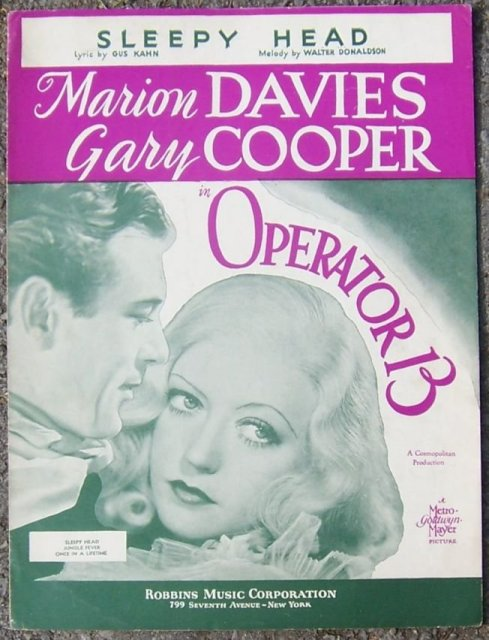 Sleepy Head Marion Davies and Gary Cooper 1934 Music