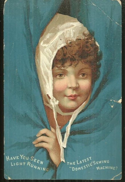Victorian Trade Card for Domestic Sewing Machine w/Lady