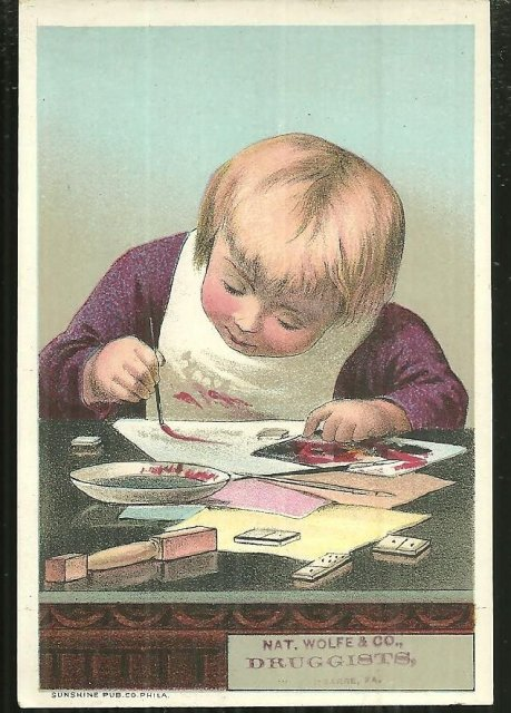 Victorian Trade Card for Nat. Wolfe & Co. , Druggists