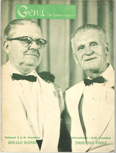 Genii Magazine August 1964 Ronald Haines Thornton Poole