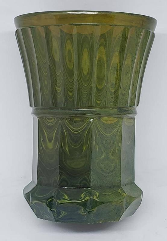 German Lithyalin Glass Beaker Tumbler ca. 1830