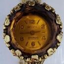 Goldette 3-Strand Necklace with Belvil Incabloc 17 Jewel Windup Watch Pendant