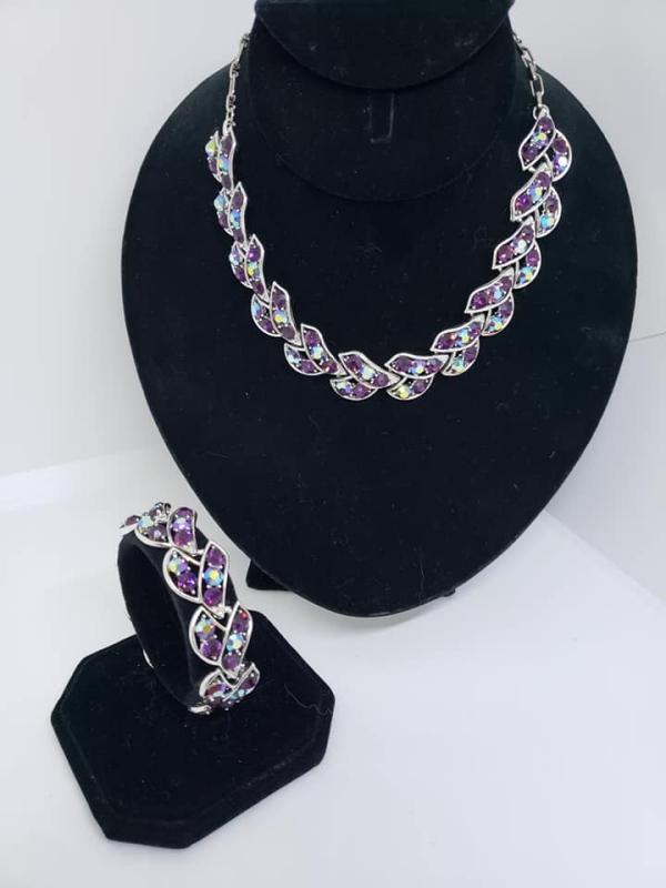 Vintage Pakula Rhinestone Necklace & Bracelet