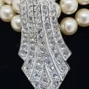 Stunning 3-Strand Faux Pearl Choker Necklace by Carolee