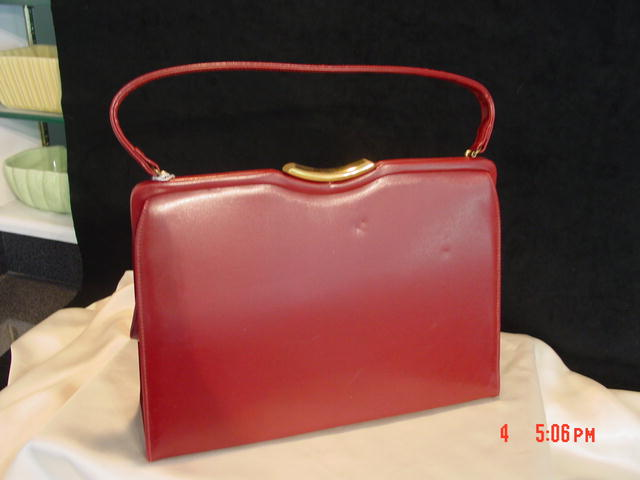 Burgundy Purse Handbag by Theodor California