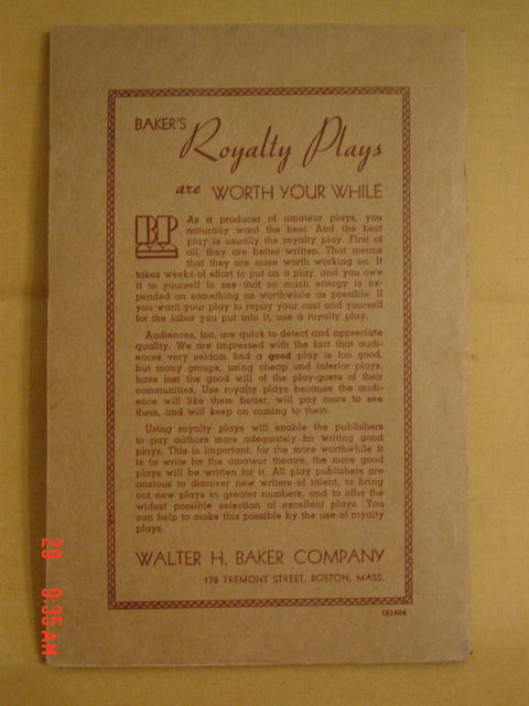 1934 Play Book